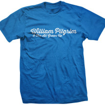 William Pilgrim Logo Tee: Men's Blue