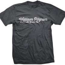 William Pilgrim Logo Tee: Men's Gray