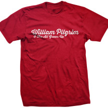William Pilgrim Logo Tee: Men's Red